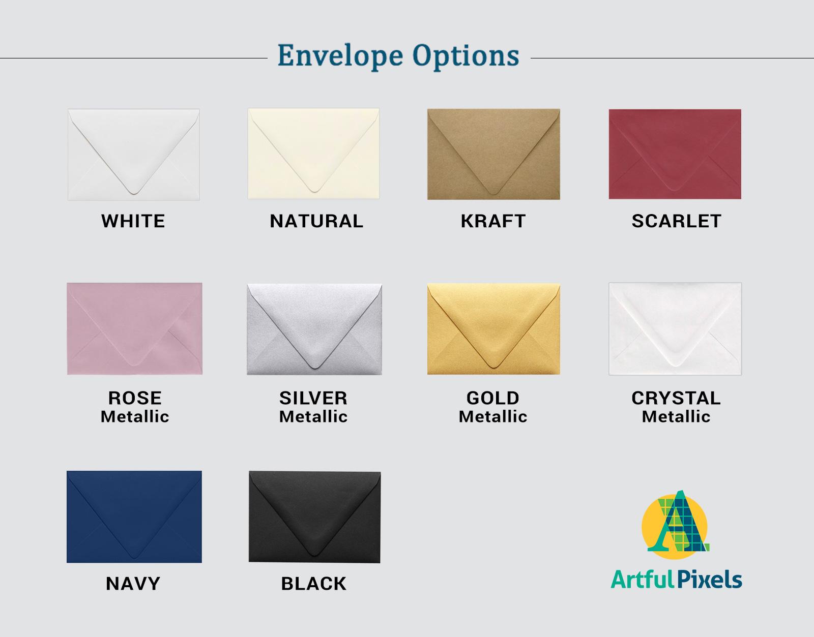 Standard Envelope Colors