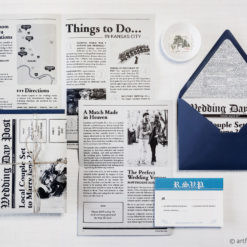 4-page Wedding Newspaper Invitation Suite