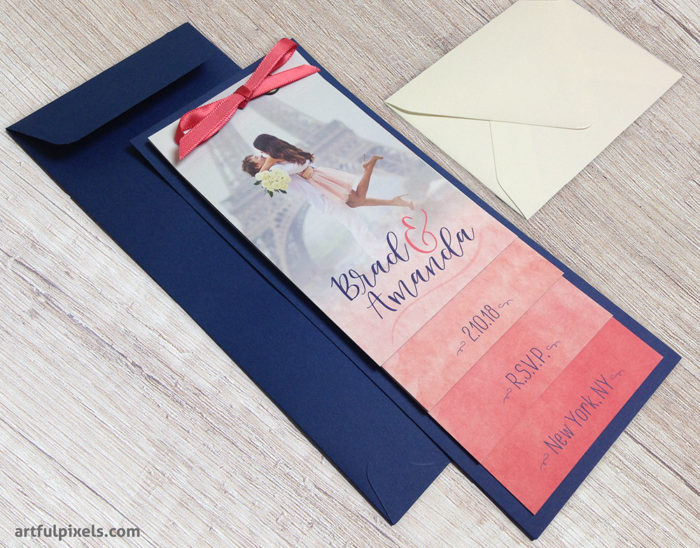 Tiered Booklet Wedding Invitation Suite