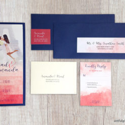 Watercolor Booklet Wedding Invitation Package