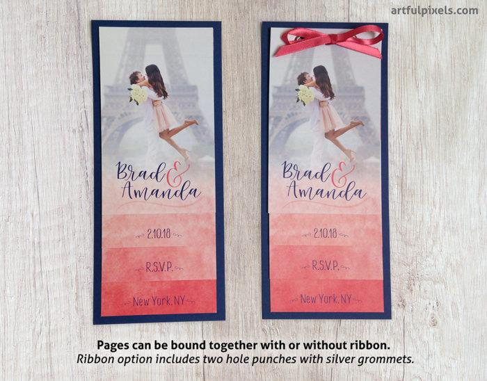 Aquarelle Wedding Suite: Binding Options