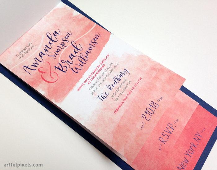 Watercolor Booklet Invitation
