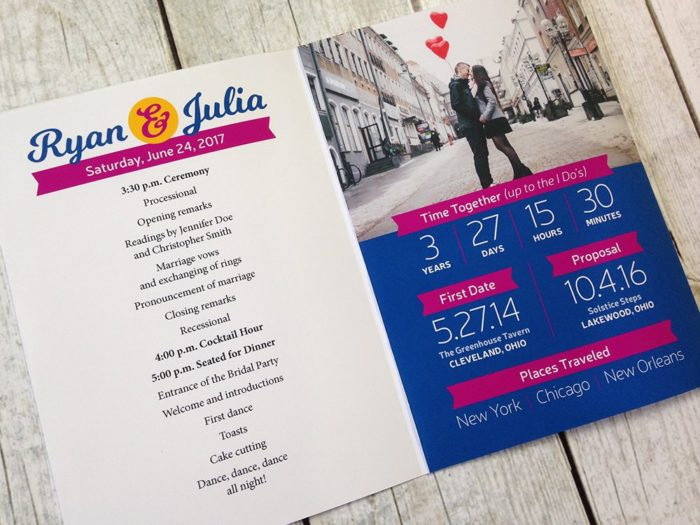 Love Data: Infographic Wedding Program