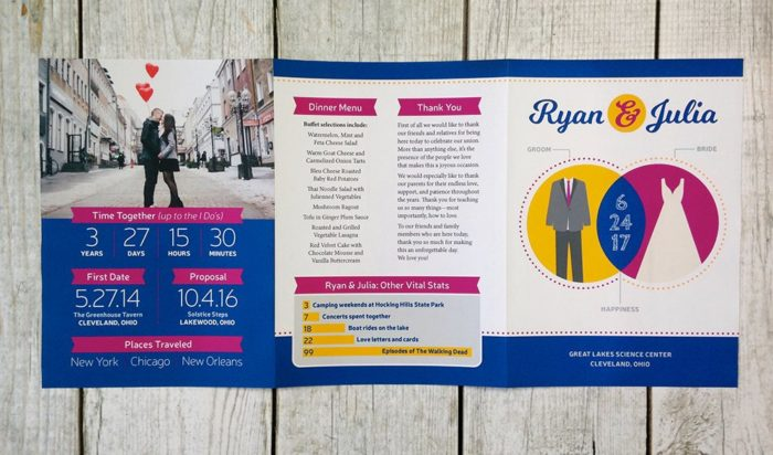 Colorful Infographic Wedding Program Trifold