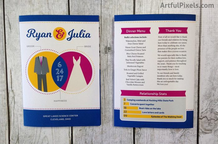 Infographic Wedding Program Trifold