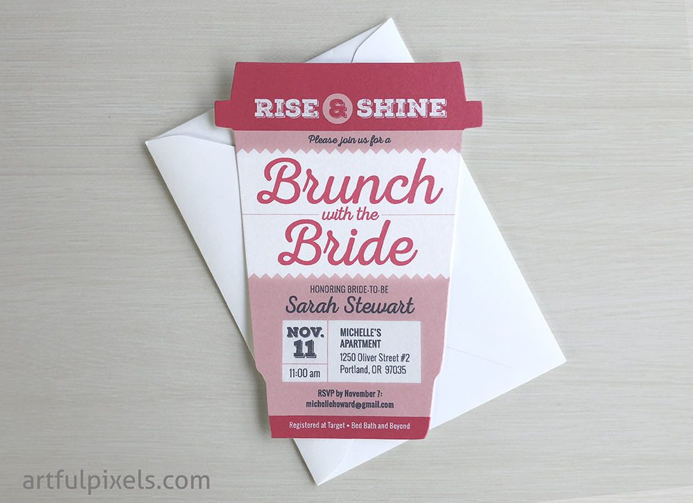 Bridal Brunch Invitation Coffee Cup