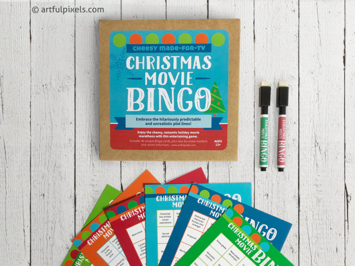 Cheesy Made for TV Christmas Movie Bingo Game