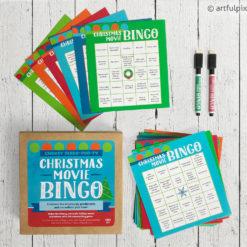 Cheesy Holiday Movie Bingo Game