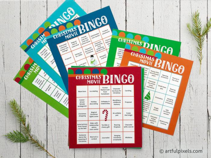 Christmas Movie Bingo Card Game