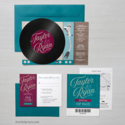 Wedding Turntable: Record Invitation Suite