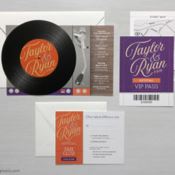 Record Invitation Suite for Wedding