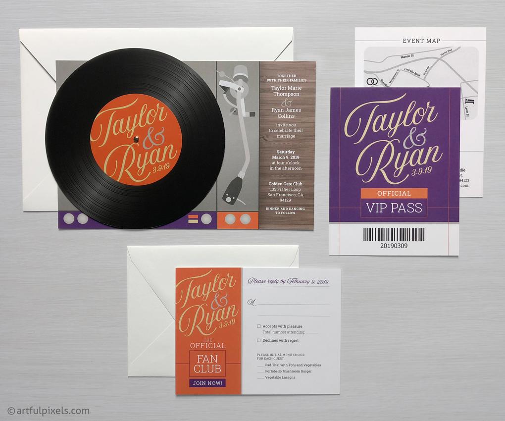 Record Invitation Suite for Wedding