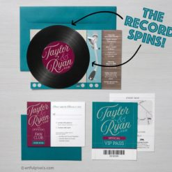 Record Invitation Suite with spinning record design