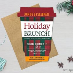 Holiday Brunch Invitation Coffee Cup