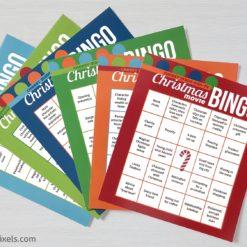 Cheesy Christmas Movie Bingo Cards