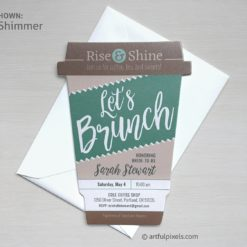 Rise & Shine Let's Brunch Invitation