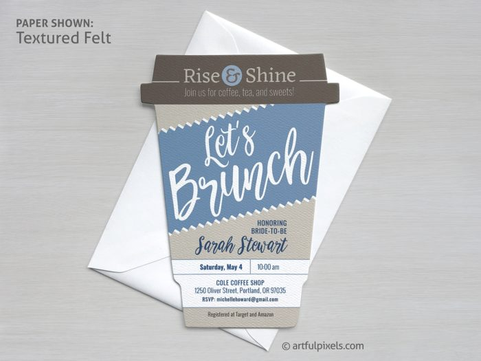 Brunch Invitation Coffee Cup