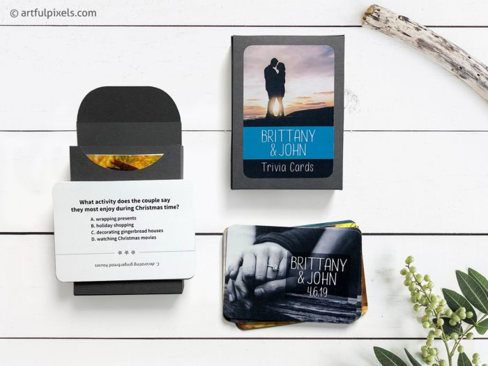 Wedding Trivia Card Deck with Box Packaging