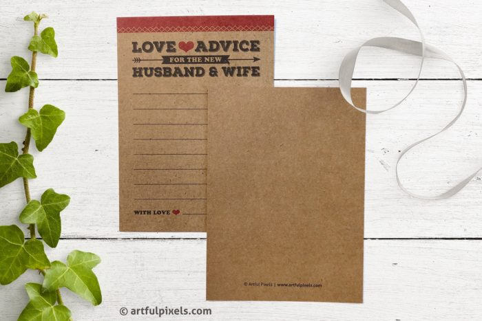 Marriage Advice Cards