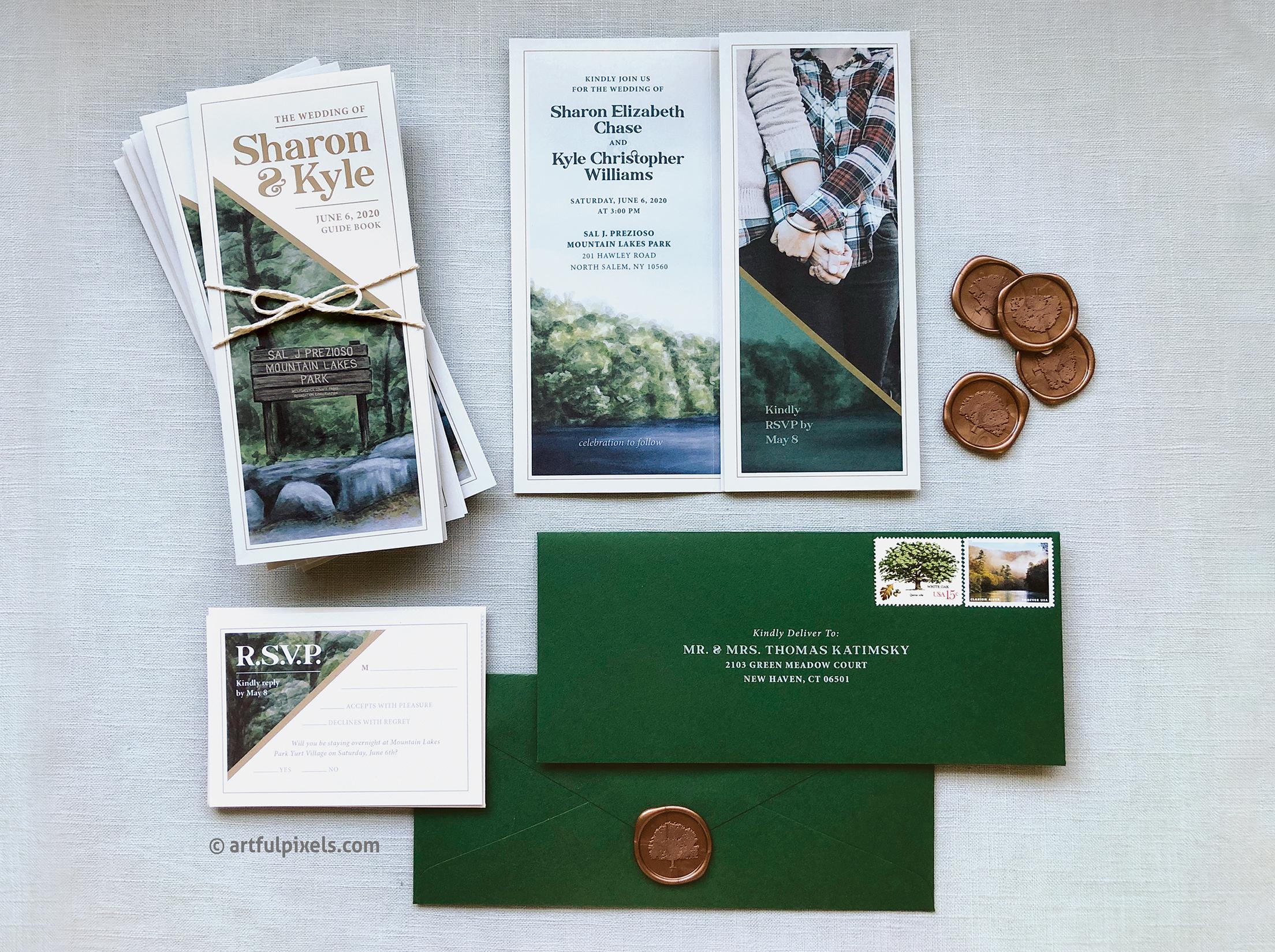 National park brochure invitation suite