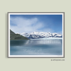 Hubbard Glacier, Alaska - Watercolor Painting Art Print