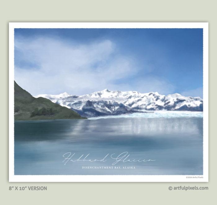 """Hubbard Glacier, Alaska - 8x10"""" Art Print"""