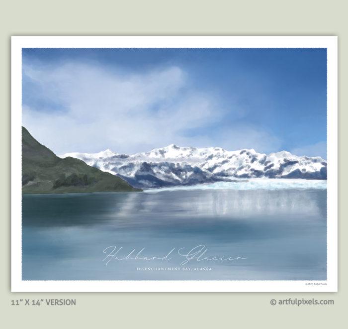 """Hubbard Glacier, Alaska - 11x14"""" Art Print"""