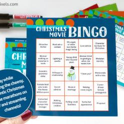 Made-for-TV Cheesy Christmas Movie Bingo cards