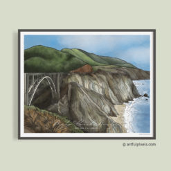Bixby Bridge, Big Sur California Art Print