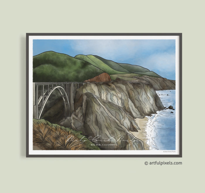 Bixby Bridge, Big Sur California Art Print
