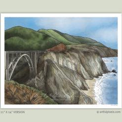 Bixby Creek Bridge 11x14 Art Print
