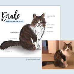 Custom Pet Portrait with original reference photo