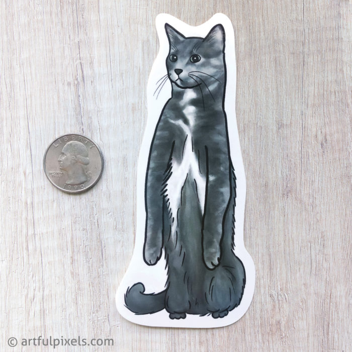 Dilute Tortie Cat Sticker