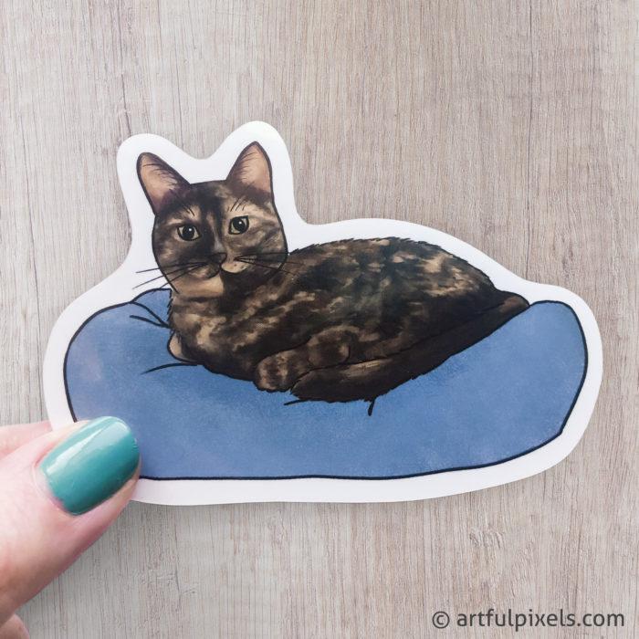 Cute Tortie Cat Sticker