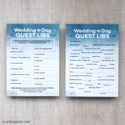 2-sided Wedding Guest Libs cards