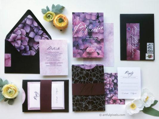 The Astorian custom wedding invitation for Houston wedding