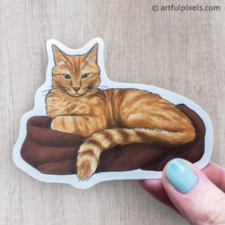 Orange Tabby Cat sticker