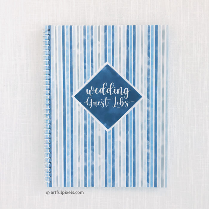 Guest Libs Guestbook front cover with wire-o binding