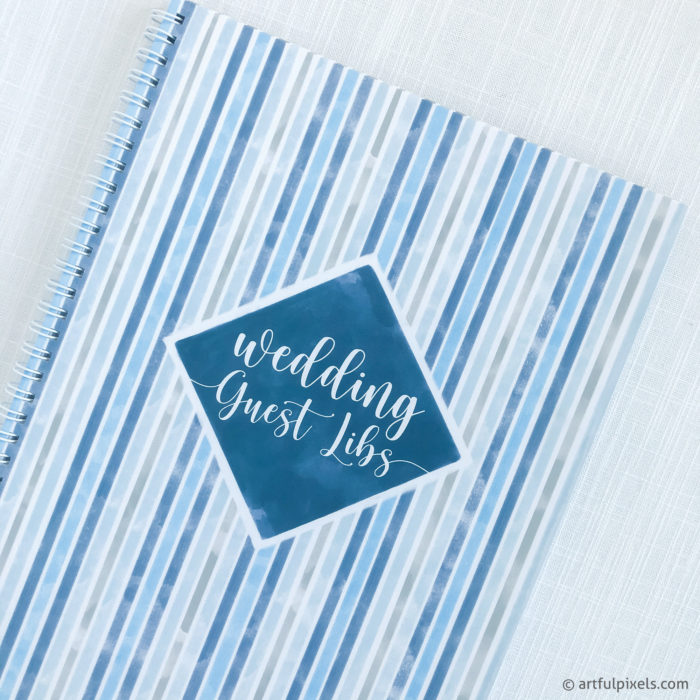 Striped blue watercolor design detail