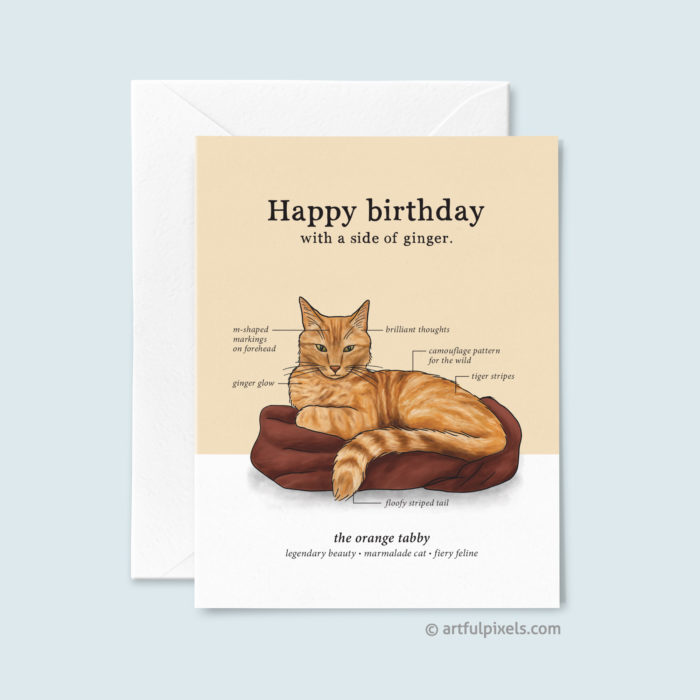 Happy Birthday with a side of Ginger greeting card