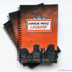 Horror Movie Logbook front cover with wire-o binding