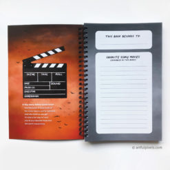 Horror Movie Notebook - inside front cover and section for listing favorite movies